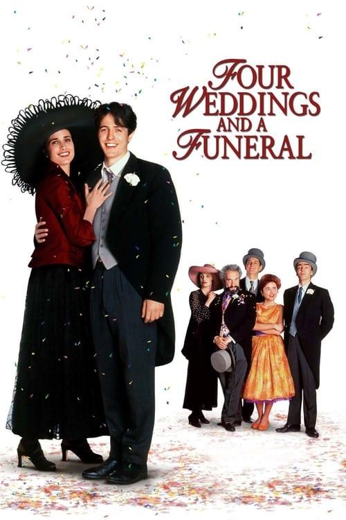 ดูหนังออนไลน์ฟรี Four Weddings and a Funeral (1994) ไปงานแต่งงาน 4 ครั้ง หัวใจนั่งเฉยไม่ได้แล้ว